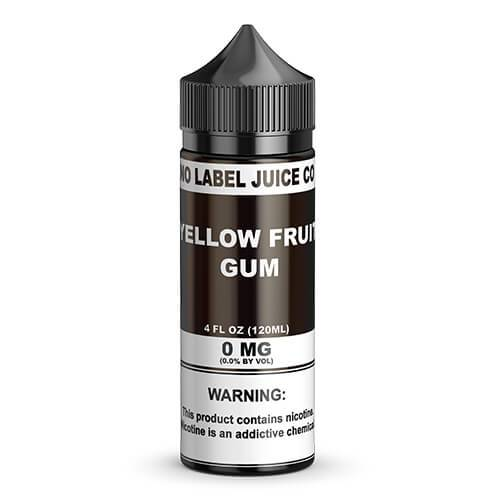 No Label Juice Co eJuice - Yellow Fruit Gum