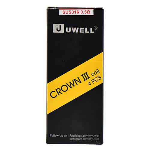 Uwell Crown 3 III Replacement Coils 0.5ohm (4-Pack)