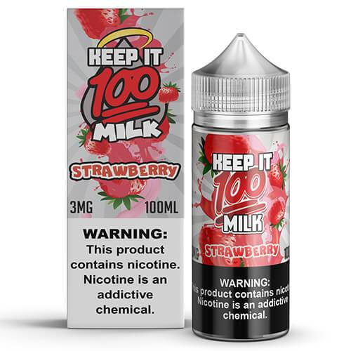 Keep It 100 E-Juice - Strawberry Milk