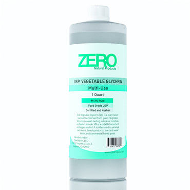 Zero Natural Products-Vegetable Glycerin USP Kosher Food Grade 99.7% Pure 1 Quart (32 oz)