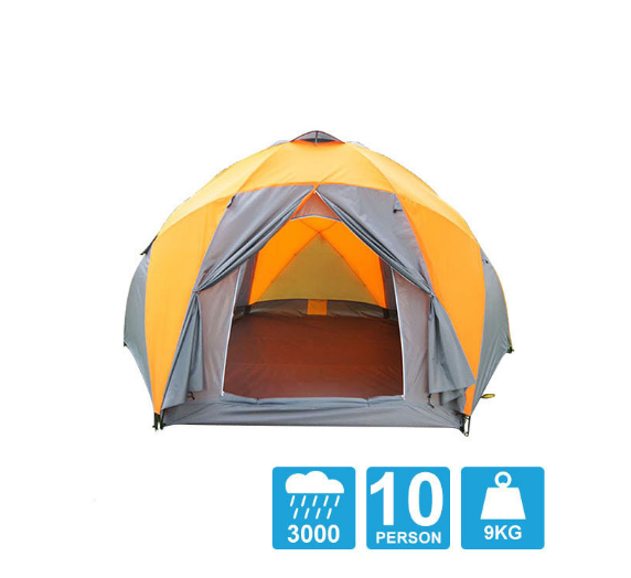 8-10 person high quality Windproof waterproof outdoor hiking beach fishing tent Durable family camping gear party marquee tent