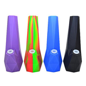 Diamond Silicone Water Pipe 10 Inch