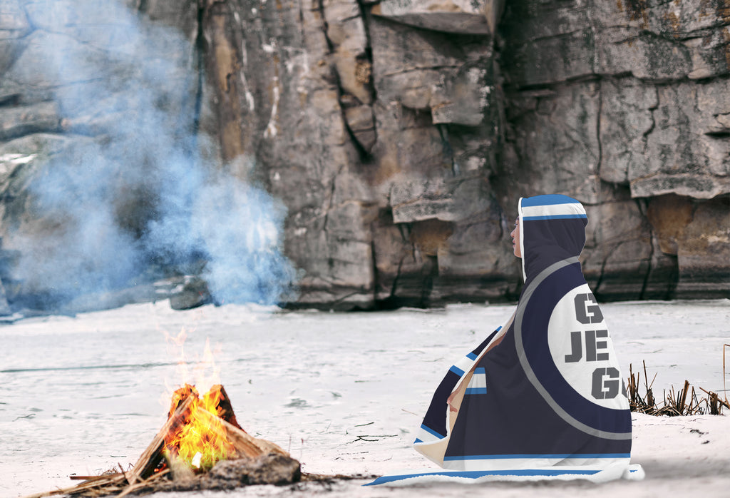 winnipeg Jets hooded blankets