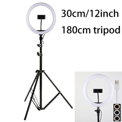 LED Video/Photography Ring Light Kit For DSLR, Cell Phone - Blindly Shop