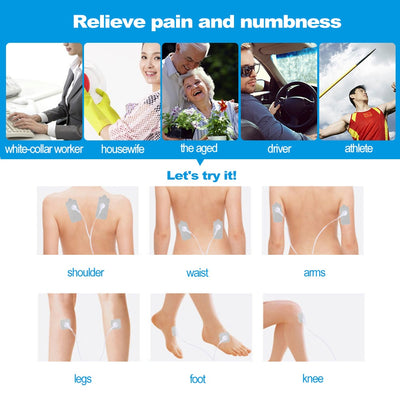 12Pcs Electrode Pads For Tens Pulse pain Therapy Machine - Blindly Shop