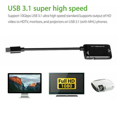 Type-C HDMI Converter Cable MHL Adapter for Android phones and type c devices - Blindly Shop