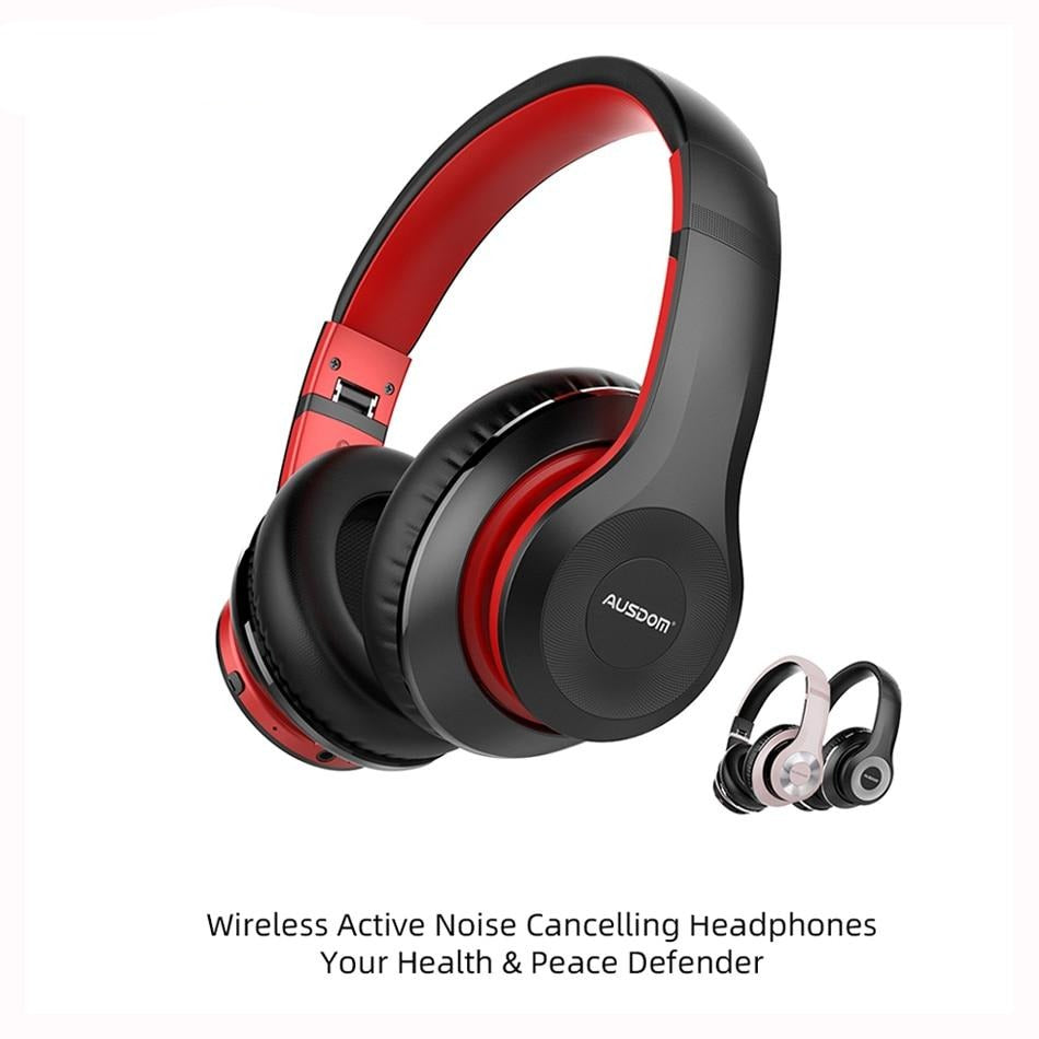 Foldable Active Noise Cancelling Bluetooth Wireless Headphones  - 30H Play time - Blindly Shop