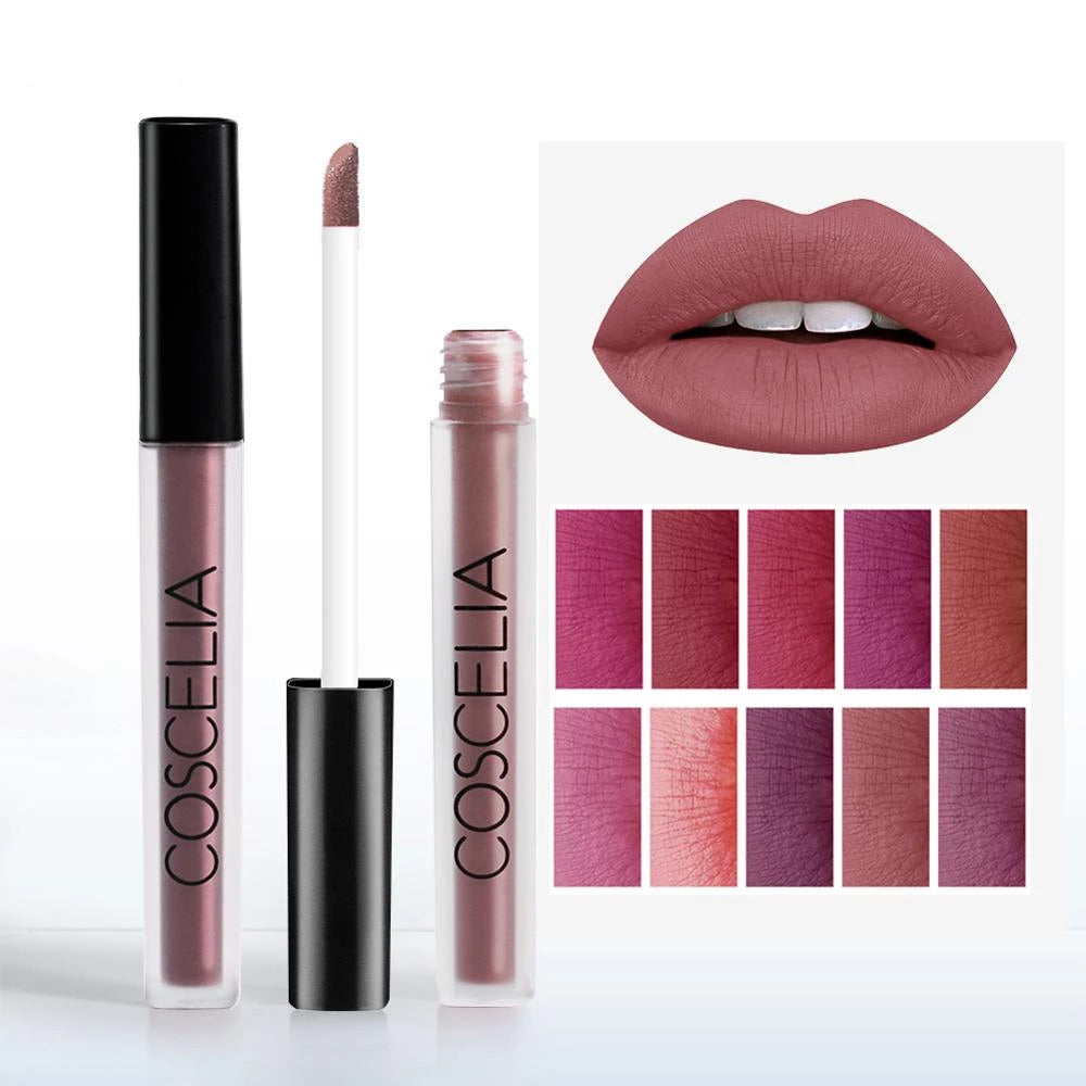 Waterproof Matte Long Lasting Lipstick (15 Colors)