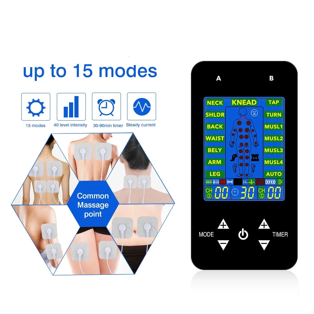 Digital premium pro physiotherapy Pain Relief Machine -EMS Tens Machine ( Global Version) - Blindly Shop