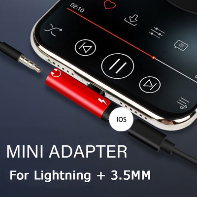 2 in  1  Lightning  Charging/Audio adapter for iPhone - Blindly Shop
