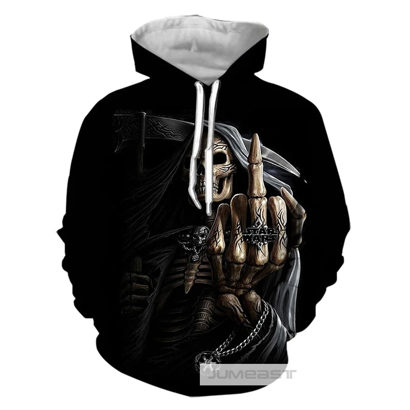 Cool Skull Women/Men classic Hooded Sweatshirt, tees & Shorts - Blindly Shop