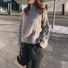 Female loose high collar bottoming thicken pure color sweater - Blindly Shop