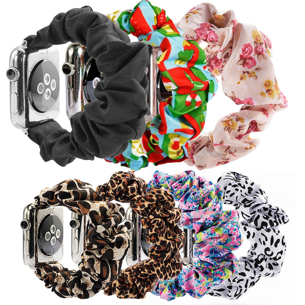 Scrunchie premium Elastic Watch Band for Apple Watch