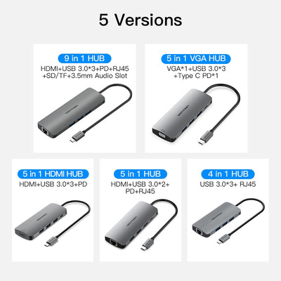 Type C USB 3.0 Thunderbolt 3 HDMI HUB for Macbook /Laptops - Blindly Shop