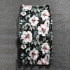 Casual Skirts Plus Size Flowers Print Pencil Skirt - Blindly Shop