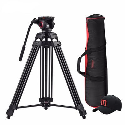 Professional Aluminum  Portable   Heavy-duty Video Tripod with Hydraulic Head - Blindly Shop