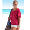Women Casual O-Neck Top Tee - Trendy loose fashion Top - Blindly Shop