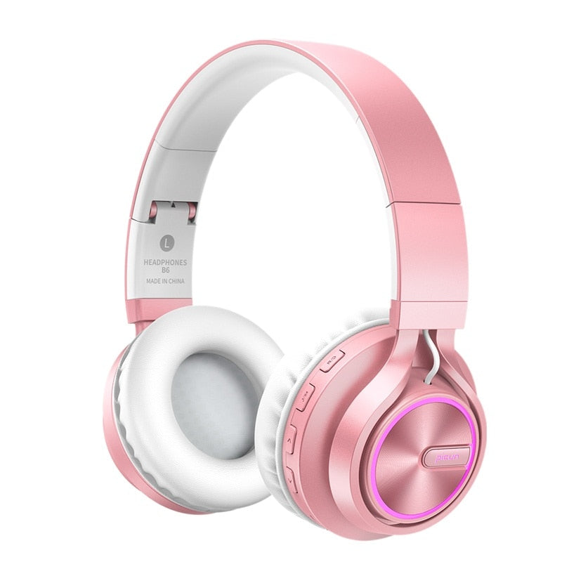 Rose Gold Wireless Headphones with Microphone - Blindly Shop