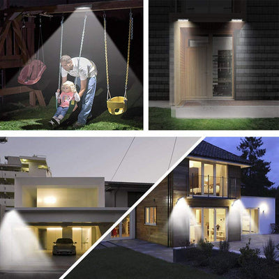 led Solar Lamp - 1000LM Outdoor/Deck/Garden Waterproof  Rotatable Wall Solar Light - Blindly Shop