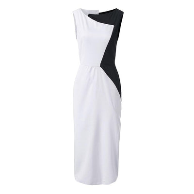 Women's Premium Retro Contrast Color  Bodycon Dresses - Blindly Shop