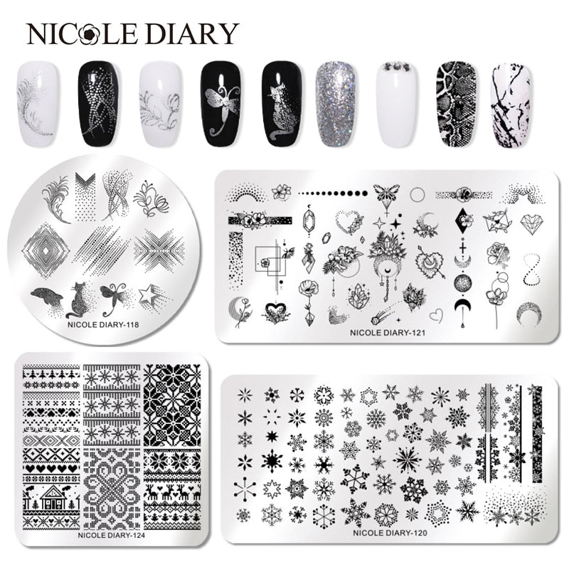 Unique Limitted edition Nail Stamping Plates