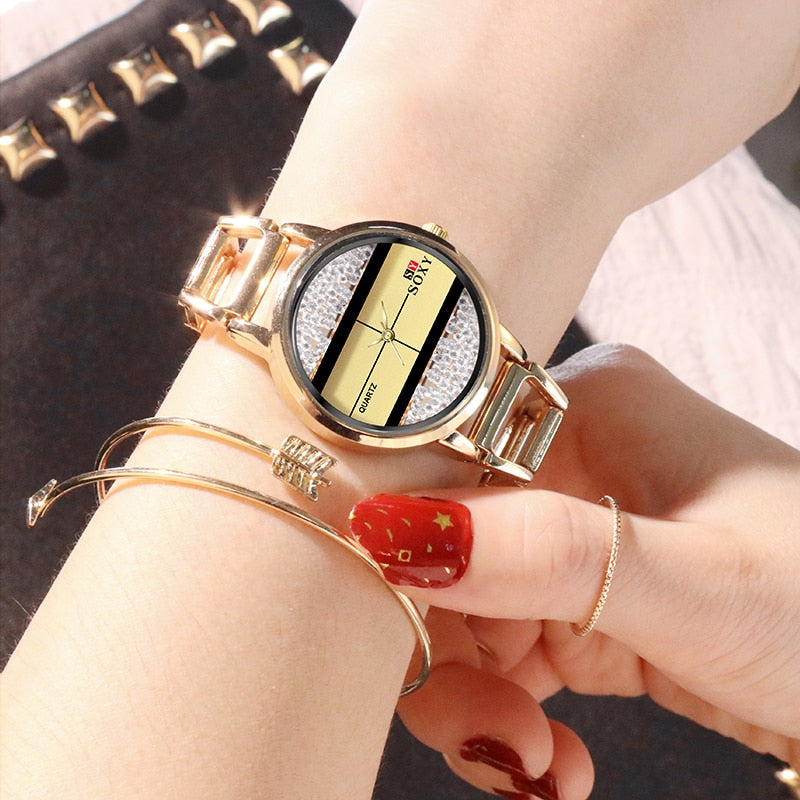 Female Creative Design  Clock Quartz Wristwatch - Blindly Shop