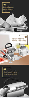 Manual Meat slicer Machine for Kitchen & commercial Uses - Blindly Shop