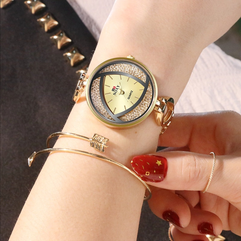 New Crystal Luxury Creative Design Bracelet Wristwatch - Blindly Shop