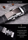 Luxury Leather Metal Automatic Buckle Men's Belts - Blindly Shop
