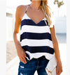 New Striped Women V-Neck Casual Tops - Blindly Shop