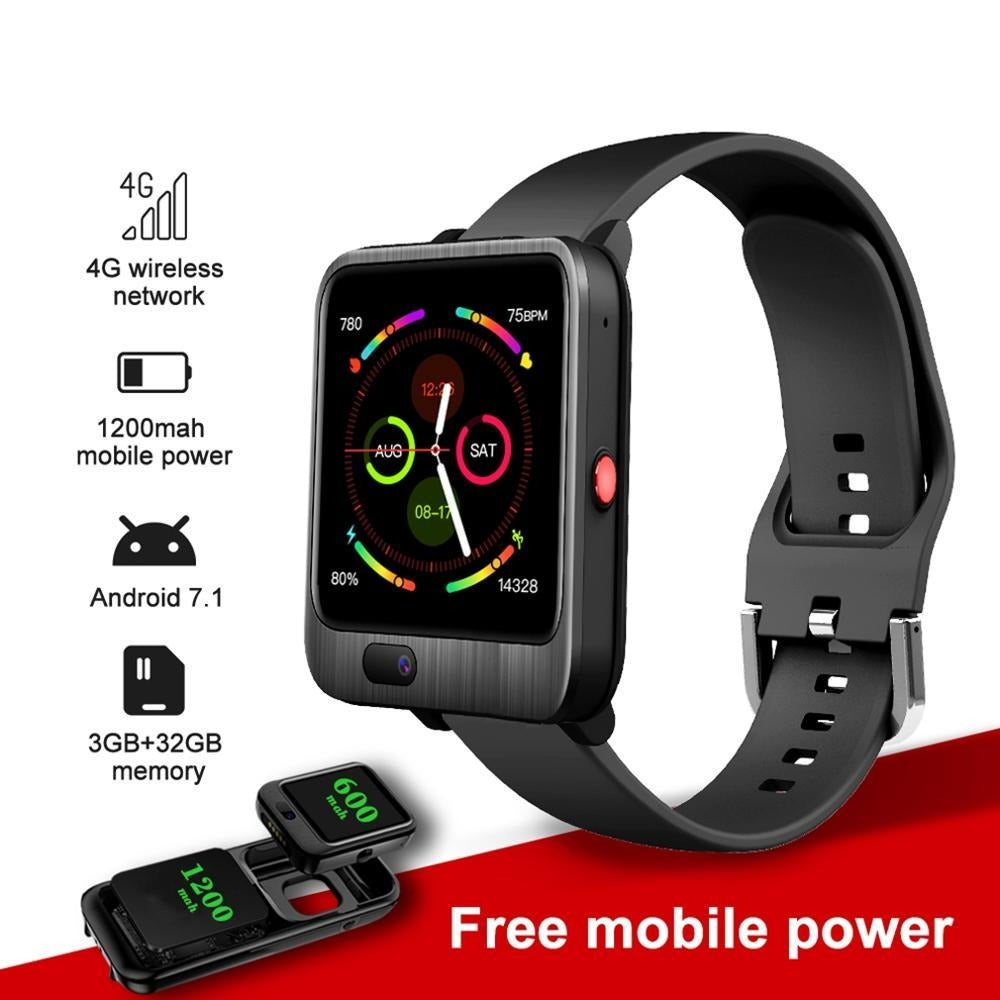 4G Android Smart Watch with 1200mah Power Bank