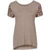 Summer Women Sequin Short Sleeve Tops - Blindly Shop