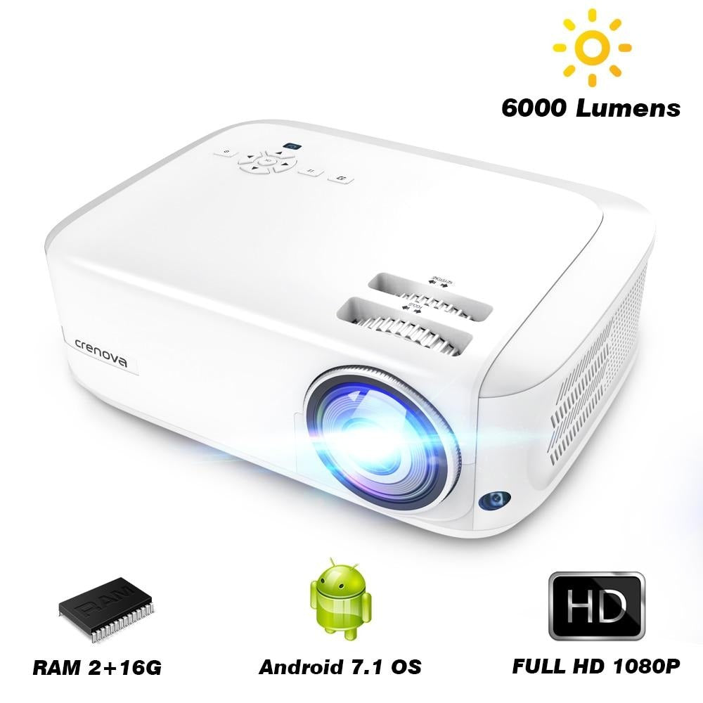 Full HD 1080P Android Projector with 6000 Lumens