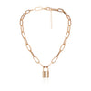 Simple Padlock Pendant Necklace - Blindly Shop