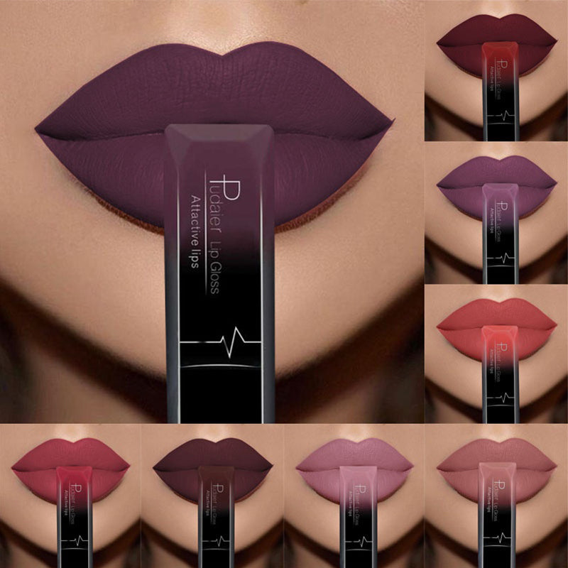 Waterproof Nude Matte Velvet Glossy Lip Gloss Lipstick - Blindly Shop