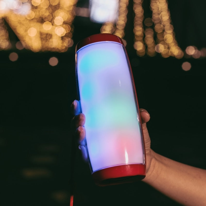 Powerful Portable Bluetooth Speaker with LED Night Light
