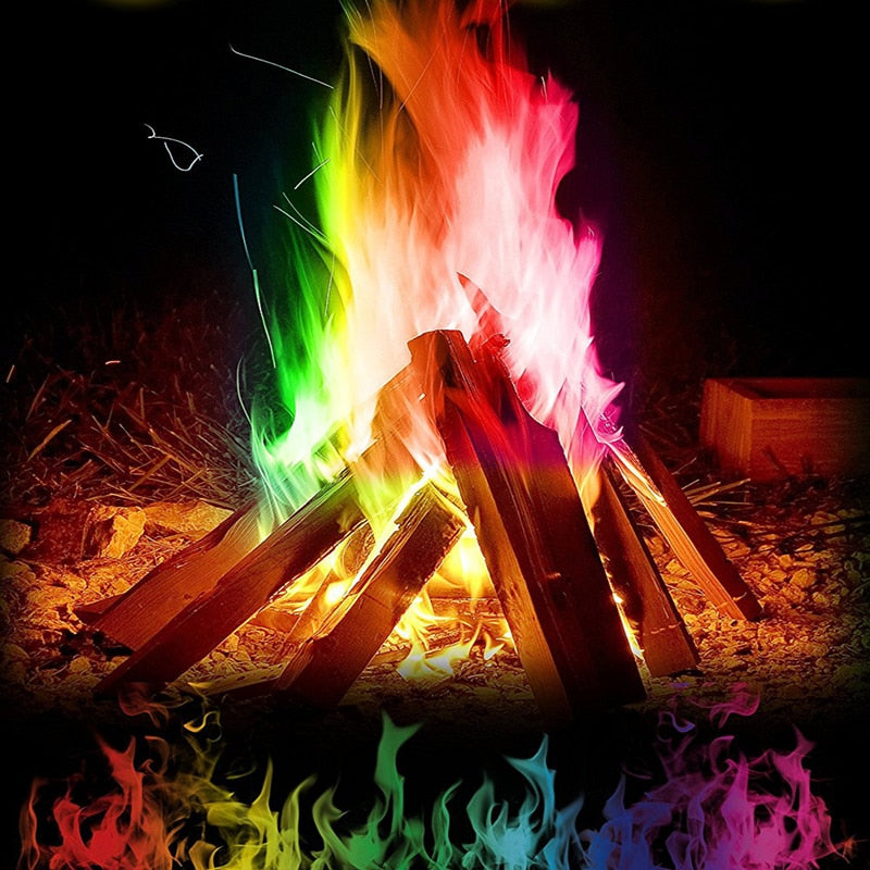 10g/15g/25g Magic Fire Colorful Flames Powder Sachets