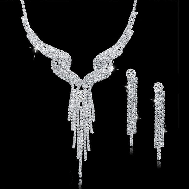 Long Tassel Wedding Jewellery Set For Women