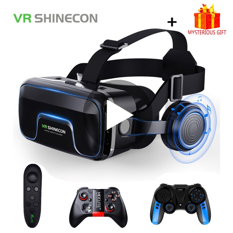 Virtual Reality Glasses with Headset For Smartphone
