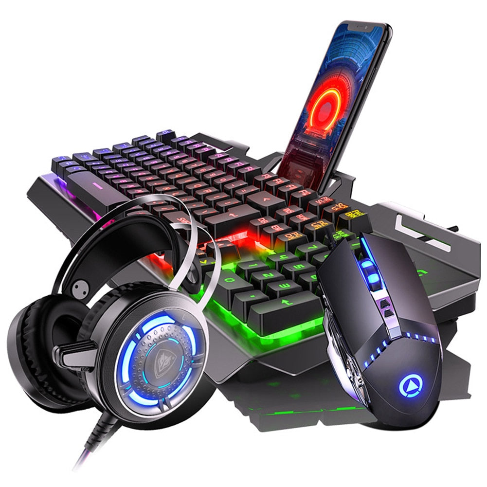 Gaming Mechanical Feel Keyboard And Mouse with Headset