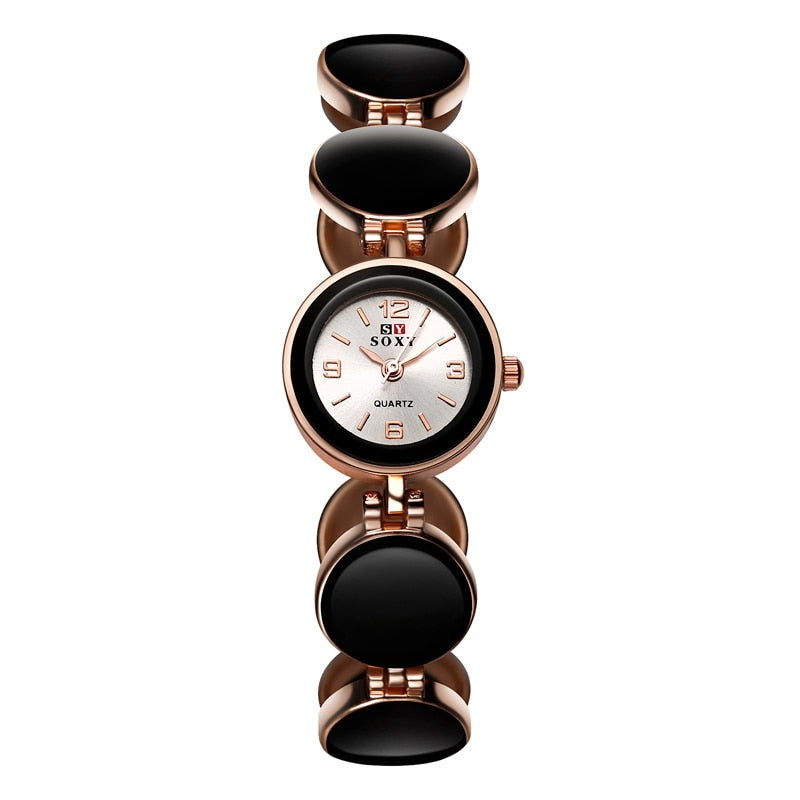 Women Rose Gold Wrist Watch Simple Style - Blindly Shop