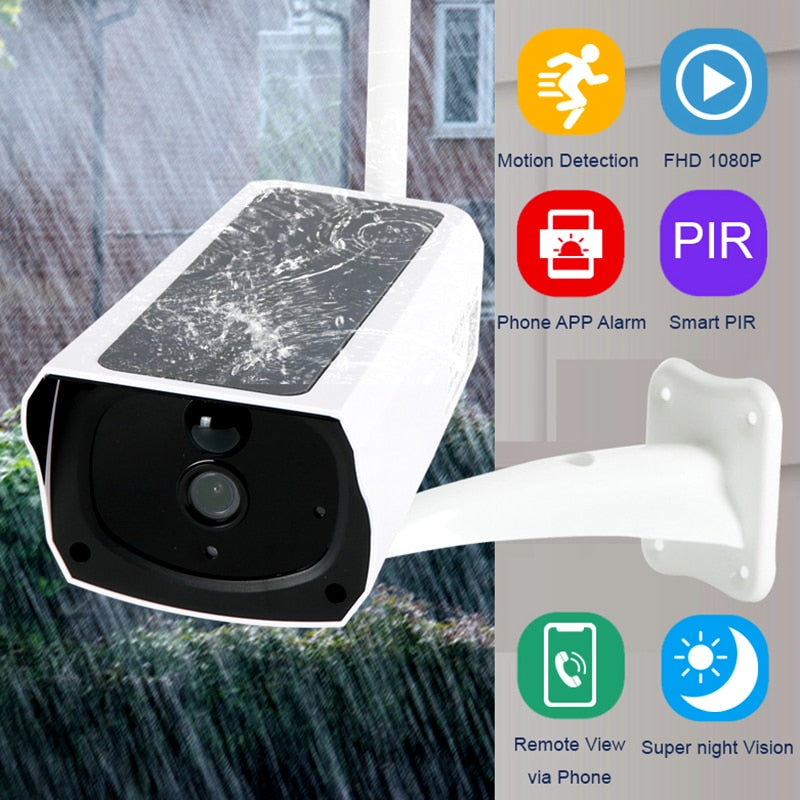 1080P HD Wireless Outdoor with solar Panel - Blindly Shop