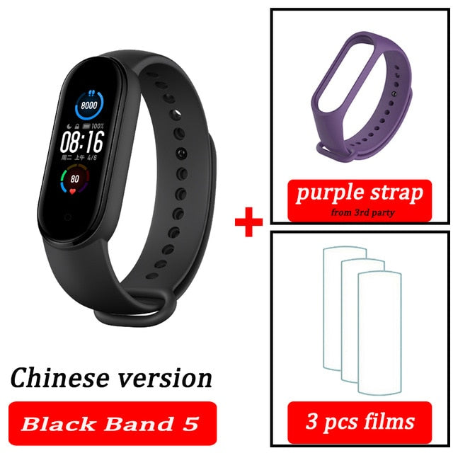 Smart Band version 5 with AMOLED Touch Screen - Blindly Shop