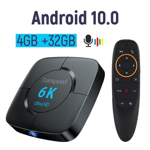6K HDR 3D Android smart tv box / set top-box