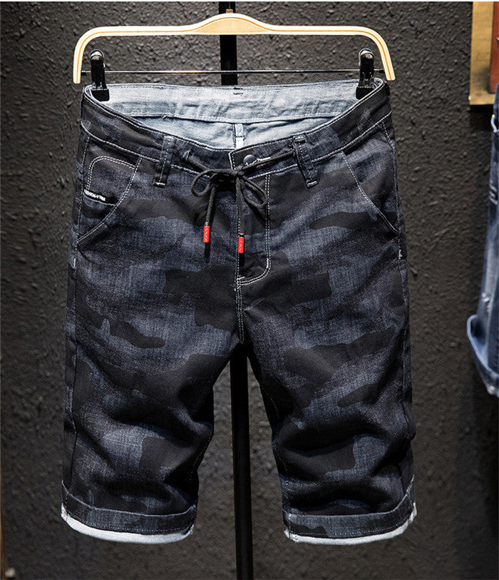 Men's Denim Slim Fit Shorts