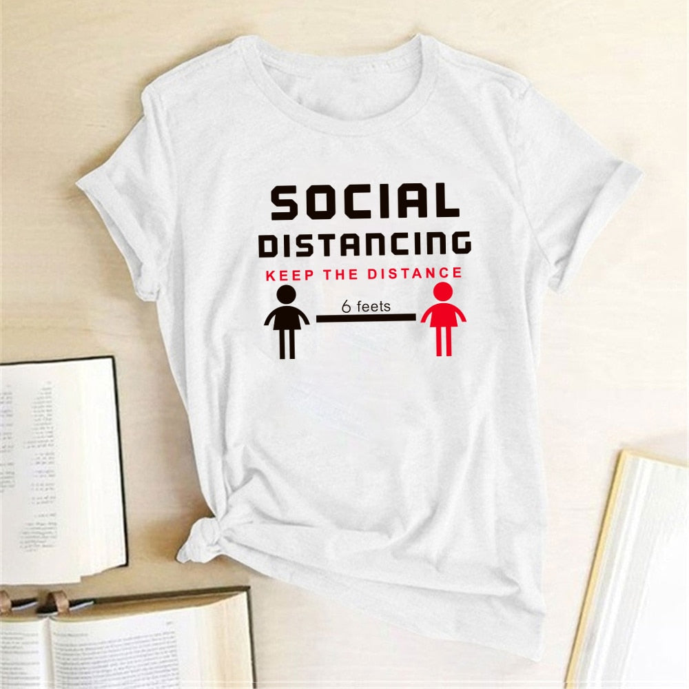 Social Distancing - Keep The Distance 6 Feets Tshirt