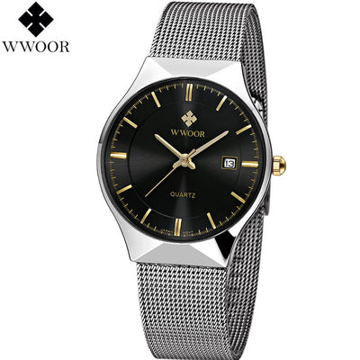 Ultra Thin Stainless Steel Mesh Band Quartz Wristwatch - Blindly Shop