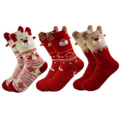 Soft Cotton Cute Santa Claus Deer Socks Christmas socks - Blindly Shop