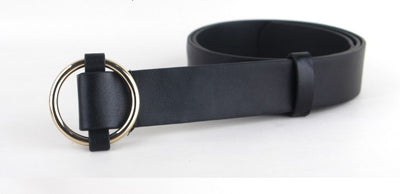 Gold Round buckle belts for women. - Blindly Shop