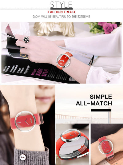 PREMIUM Women  brand luxury Fashion Casual quartz Unique Stylish  Hollow skeleton  watches leather sport Lady wristwatches 205L - Blindly Shop